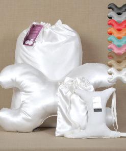 Ránctalanító párna szett fehér választható huzattal