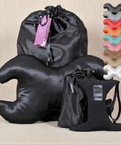 Ránctalanító párna szett fekete választható huzattal